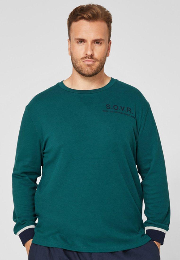 s.Oliver - MIT RIPPBÜNDCHEN - Long sleeved top - dark green