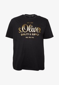 s.Oliver - KURZARM - Print T-shirt - black - 3