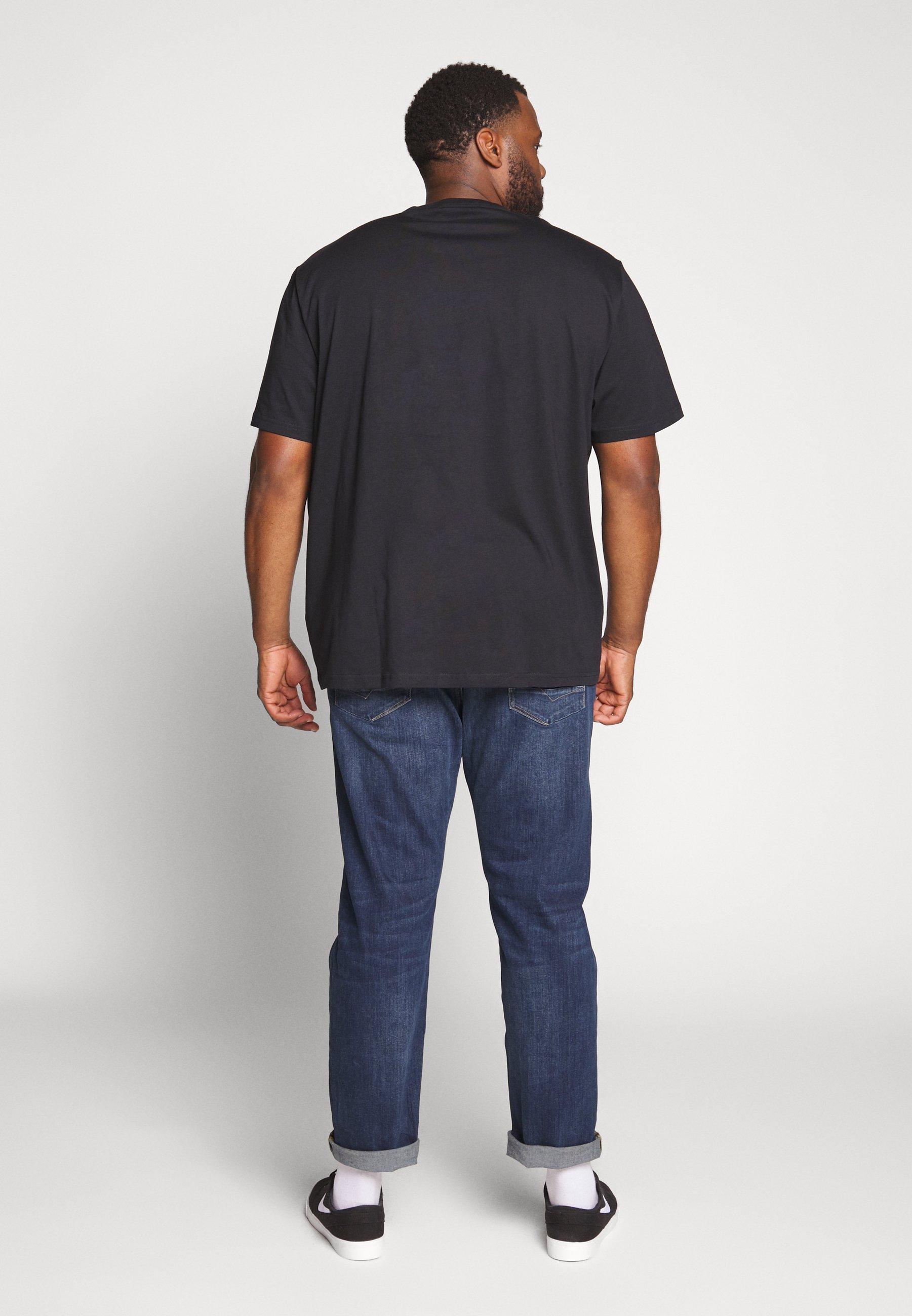 s.Oliver KURZARM - T-shirt z nadrukiem - storm blue