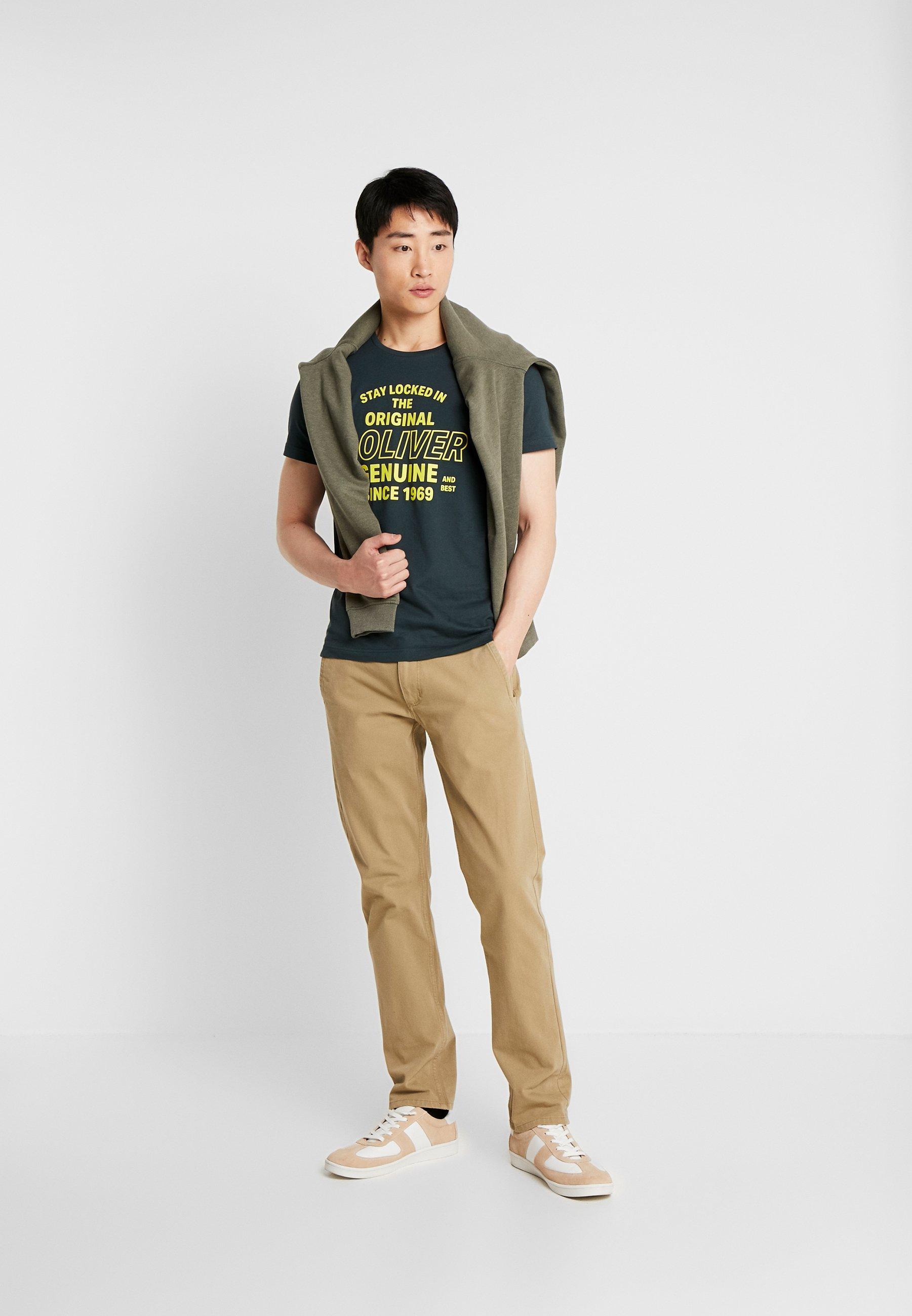 s.Oliver T-shirt z nadrukiem - blue green