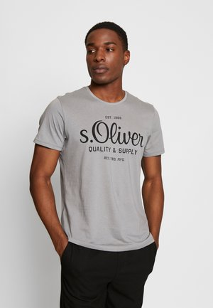 T-shirt con stampa - ice grey