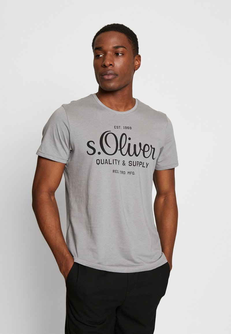 s.Oliver - T-shirt print - ice grey
