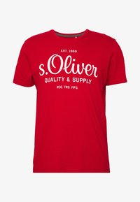 s.Oliver - T-shirt print - marker red - 4