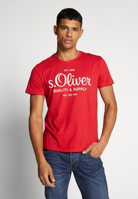 s.Oliver - T-shirt print - marker red - 0