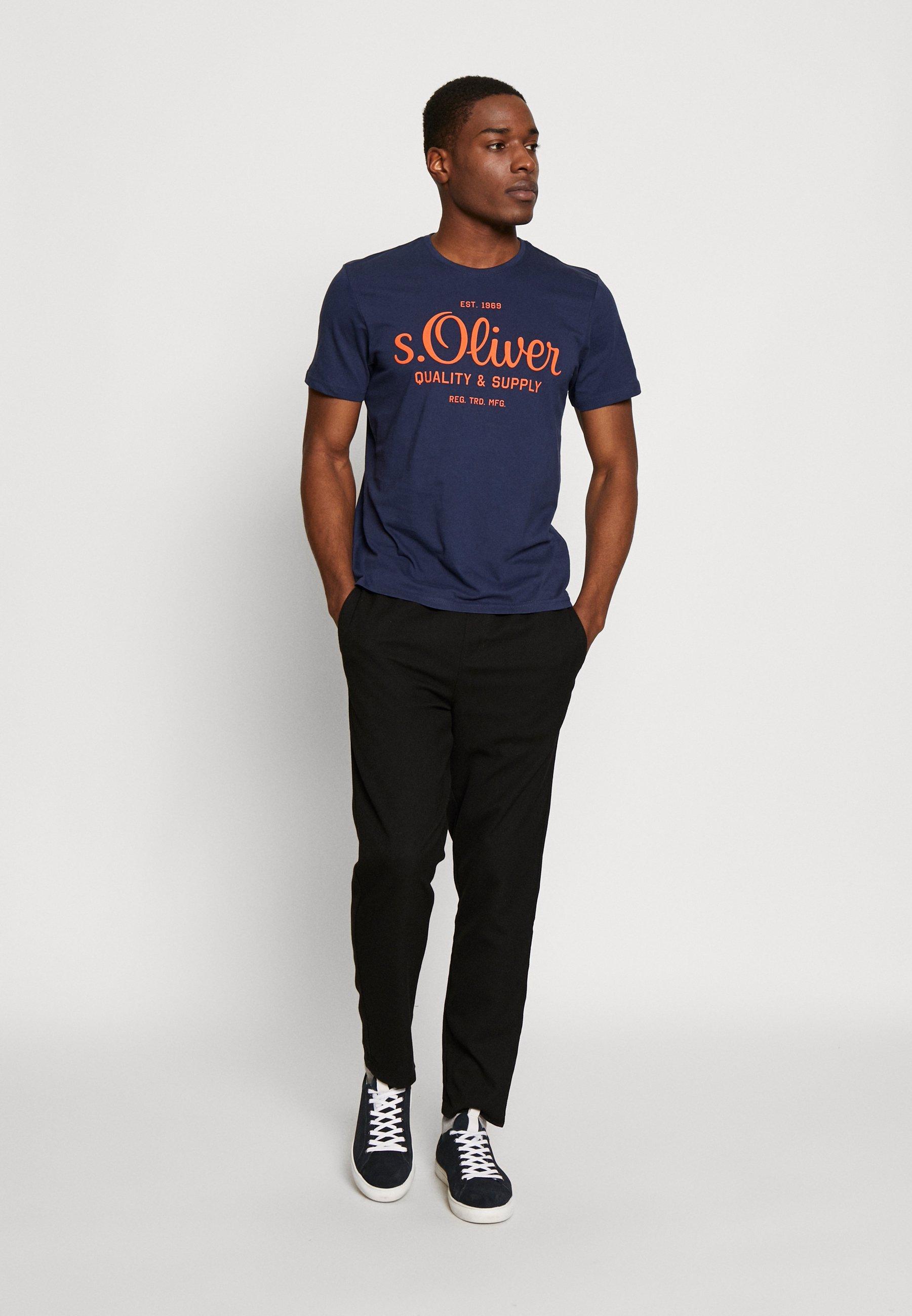 s.Oliver T-shirt z nadrukiem - blue