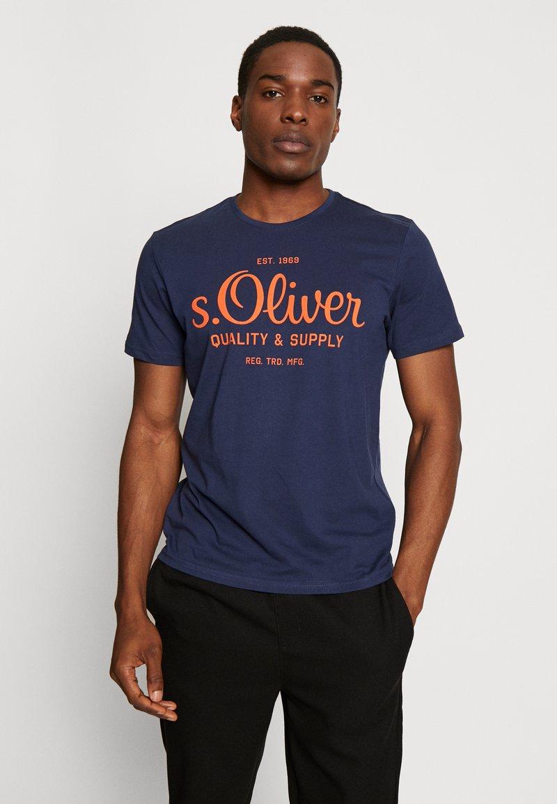 s.Oliver - T-shirt print - blue