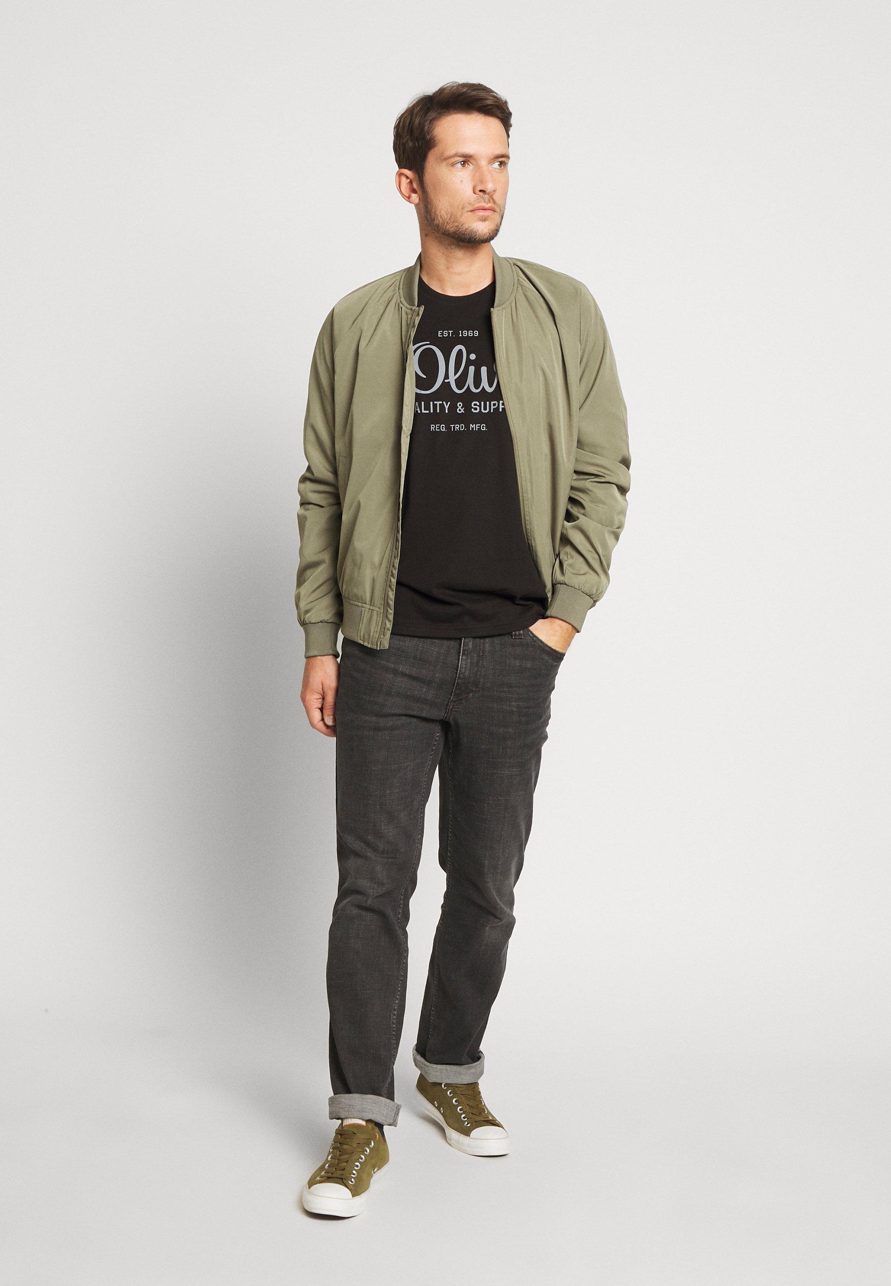 s.Oliver T-shirt z nadrukiem - black