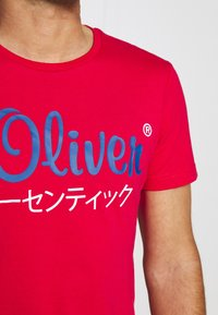 s.Oliver - Print T-shirt - red - 4