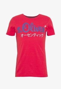 s.Oliver - Print T-shirt - red - 3