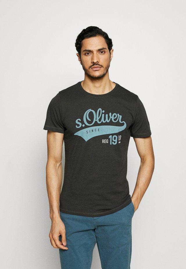 T-shirt con stampa - anthrazit