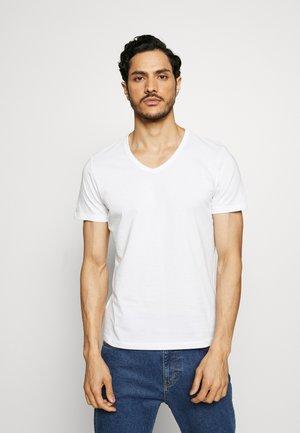 KURZARM 2 PACK - Jednoduché triko - white