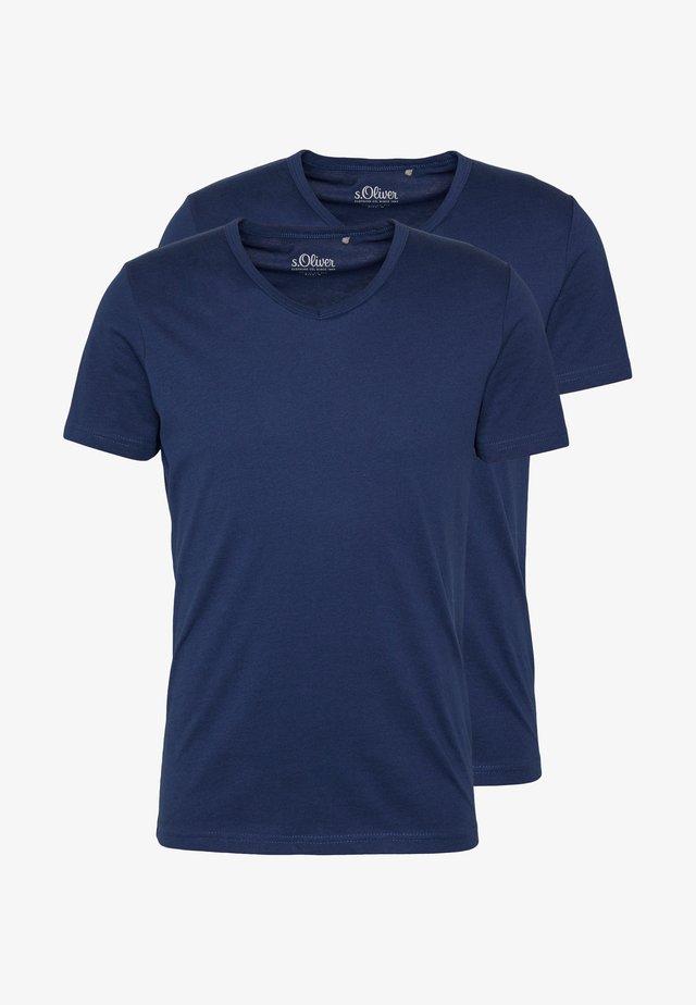 KURZARM 2 PACK - T-shirt basic - blue