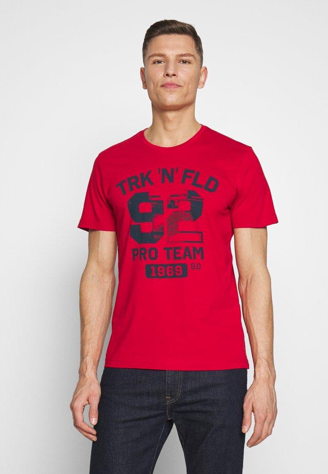 KURZARM - T-shirt z nadrukiem - marker red