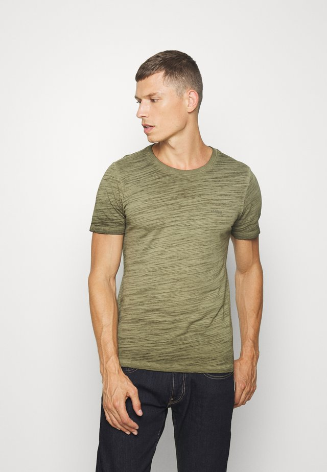 T-SHIRT KURZARM - T-shirt basic - burnt oliv