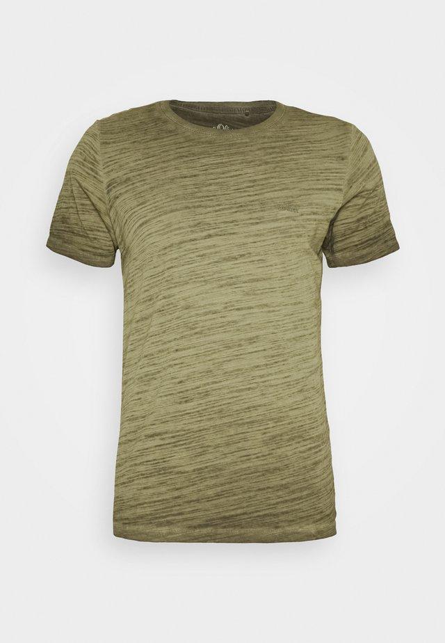 T-SHIRT KURZARM - T-shirt basic - burnt oliv