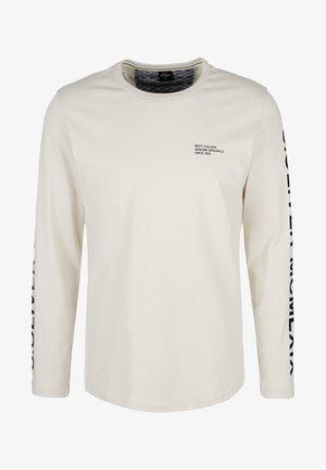 MET PRINT OP DE MOUWEN - T-shirt à manches longues - cream