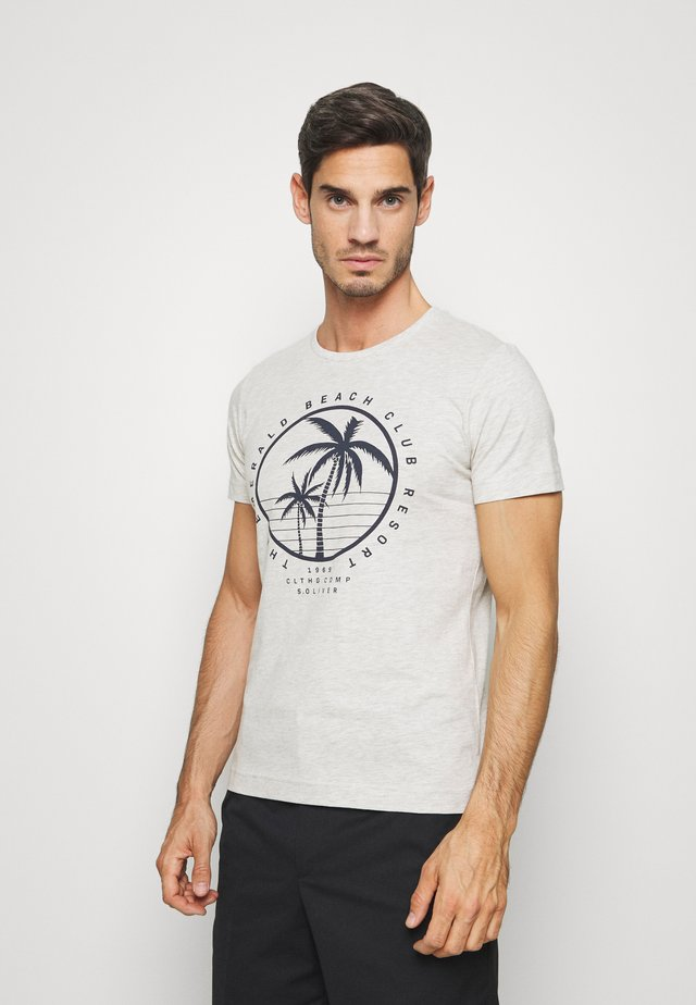 T-shirt con stampa - marble