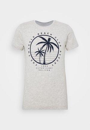 T-shirt print - marble