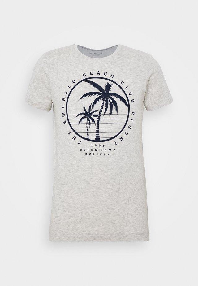 Print T-shirt - marble
