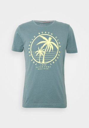 Print T-shirt - frosty blu