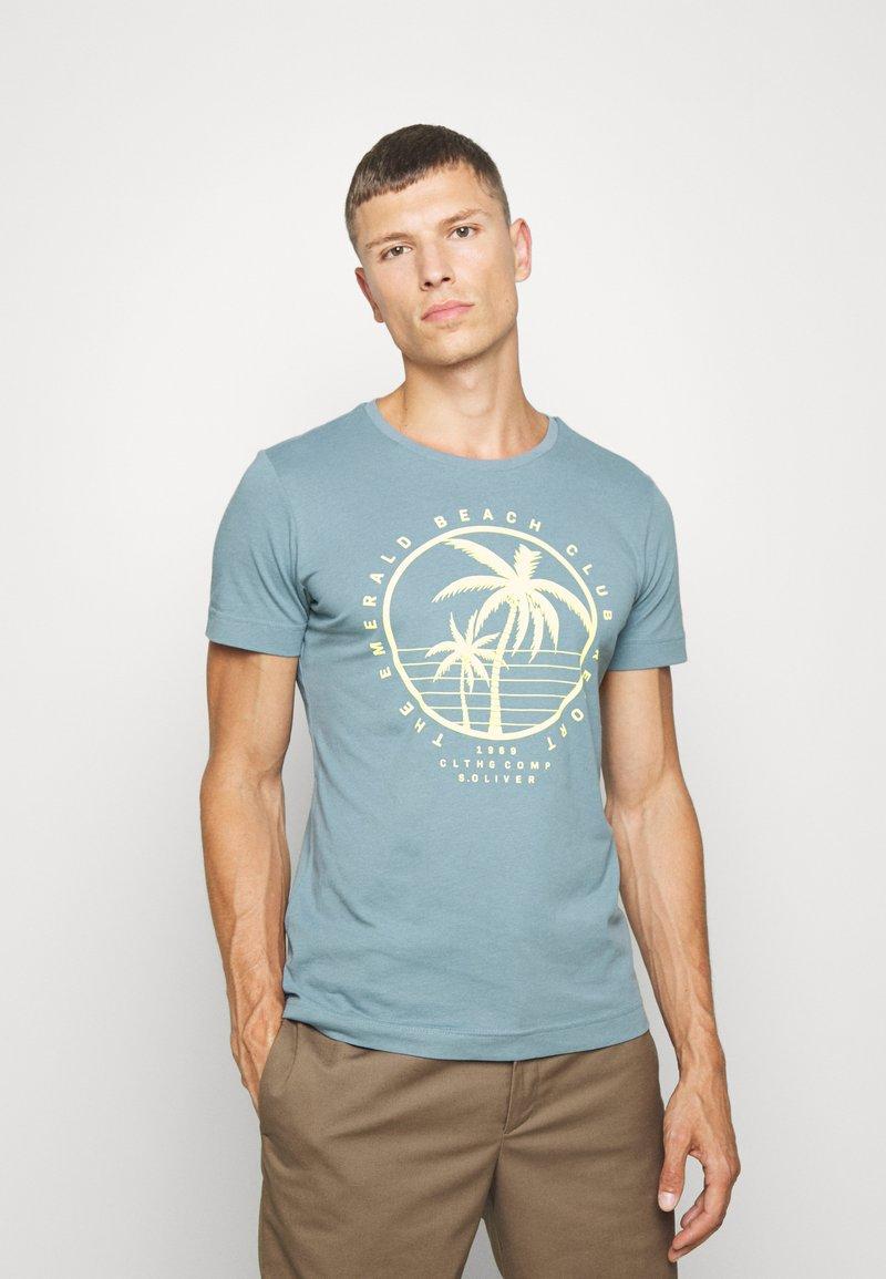 s.Oliver - T-shirt print - frosty blu
