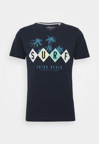 s.Oliver - T-shirt print - medieval blue - 0