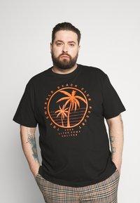 s.Oliver - KURZARM - Print T-shirt - black - 0