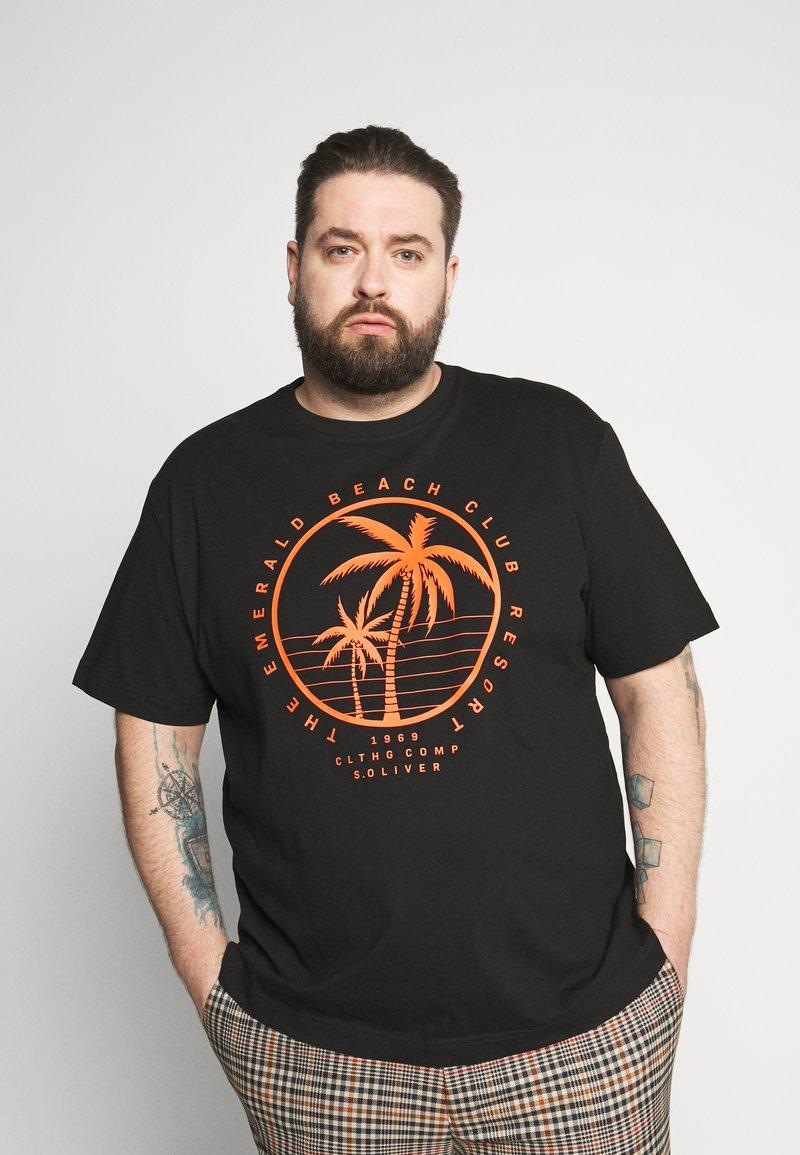 s.Oliver - KURZARM - Print T-shirt - black