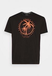 s.Oliver - KURZARM - Print T-shirt - black - 4