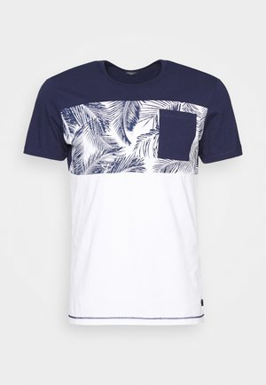 KURZARM - T-shirt print - blue strip