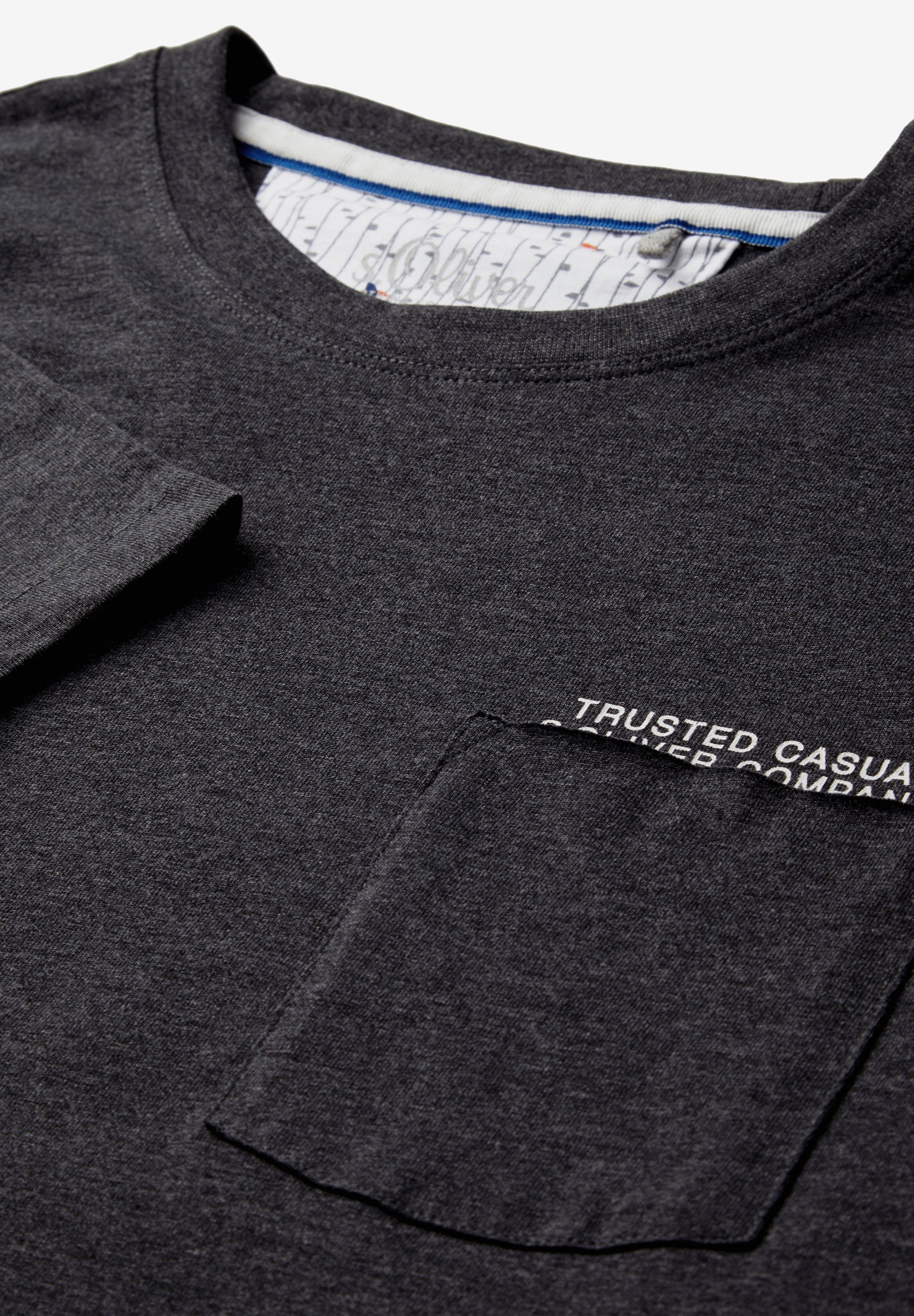 MIT BRUSTTASCHE T shirt print dark grey melange