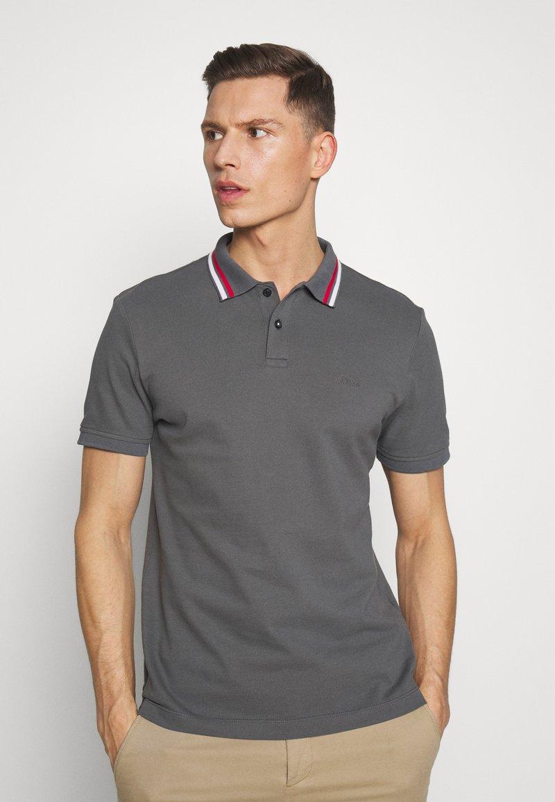 s.Oliver - KURZARM - Polo shirt - smoke grey