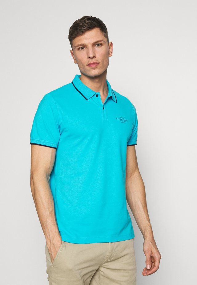 T-SHIRT KURZARM - Poloshirt - turquoise