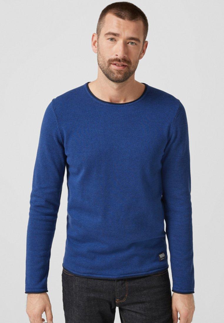 s.Oliver Strickpullover mottled dark blue