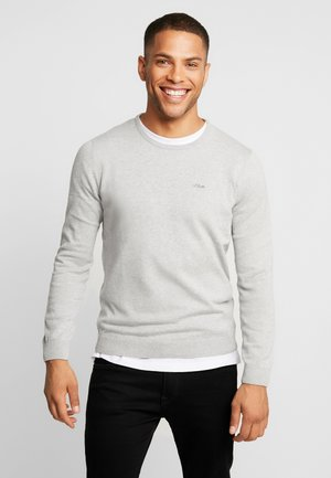 LANGARM - Jumper - snow grey melange