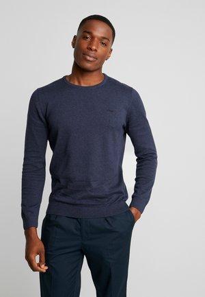 LANGARM - Stickad tröja - navy melange