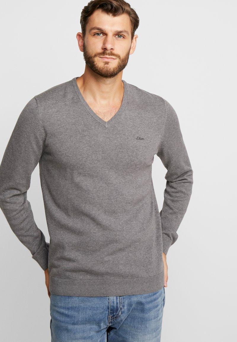 s.Oliver - LANGARM - Jersey de punto - blend grey