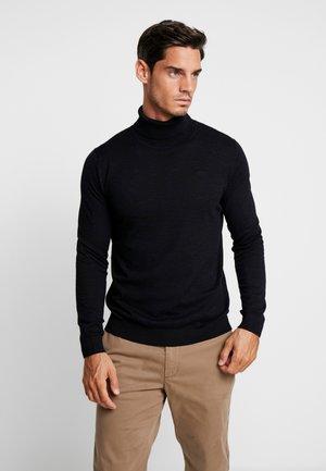 LANGARM - Pullover - black melange