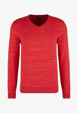 Pullover - mottled red