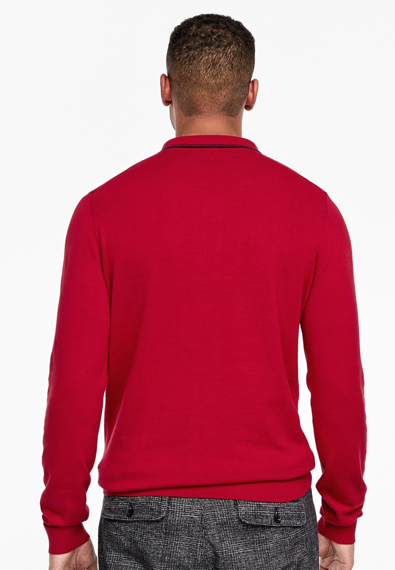 s.Oliver MIT POLOKRAGEN - Polo shirt - red