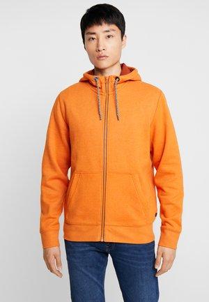 Zip-up hoodie - sienna red melange