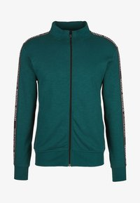 s.Oliver - MIT TAPE-APPLIKATION - Sweatjacke - teal - 3