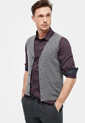MIT DOUBLEFACE-FRONT - Waistcoat - grey