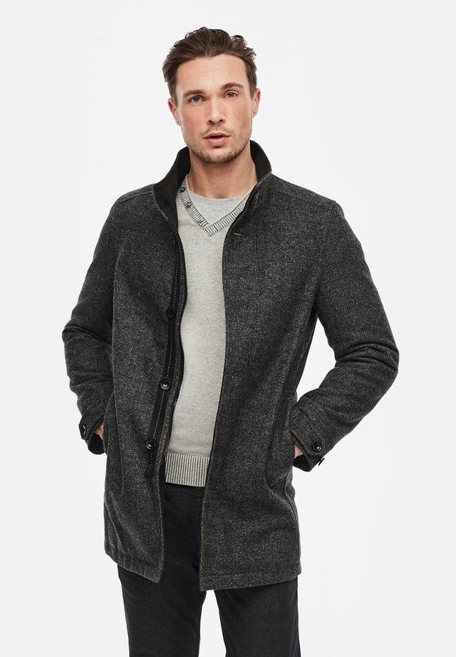 Wintermantel - dark grey melange