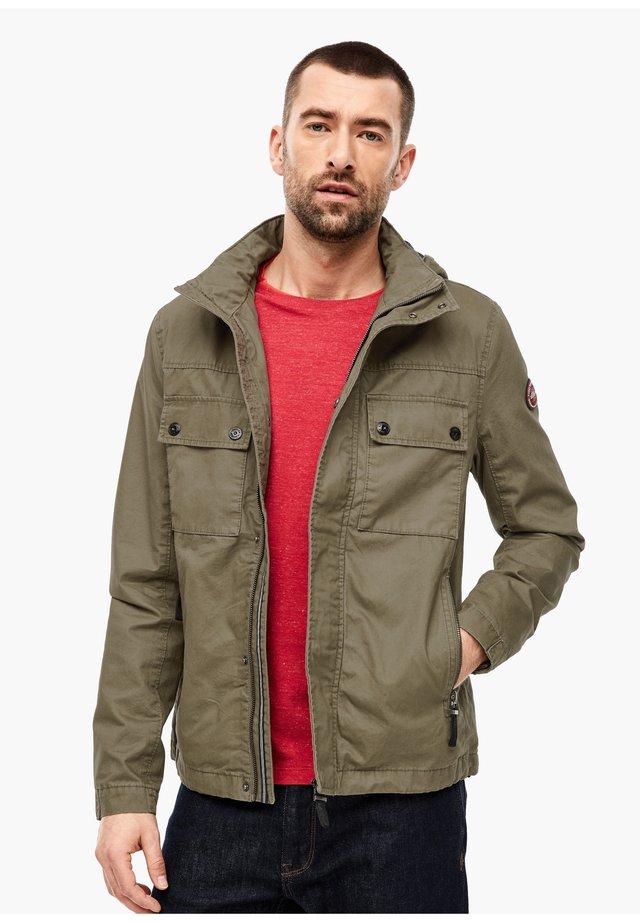 CANVASJACKE IM FIELD-STYLE - Summer jacket - khaki