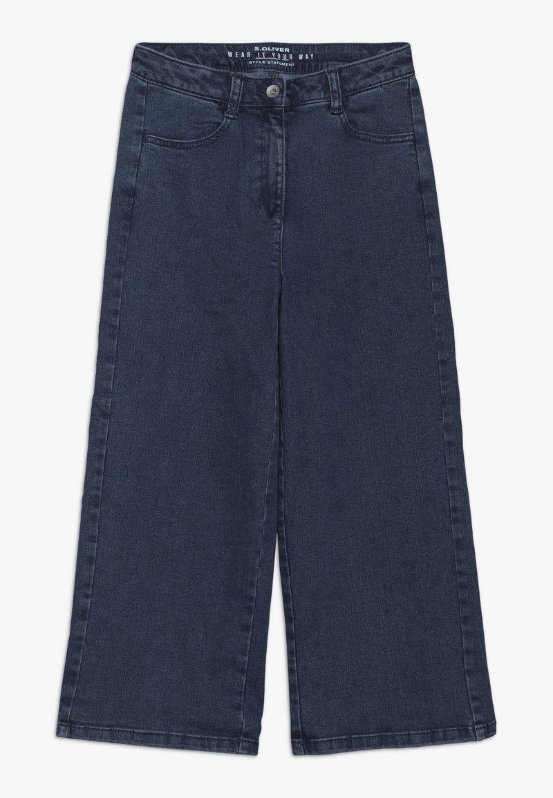 s.Oliver - CULOTTE - Flared Jeans - blue denim