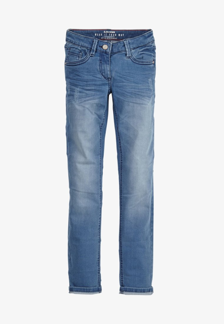 s.Oliver - SURI  - Jeans Straight Leg - blue denim stretch