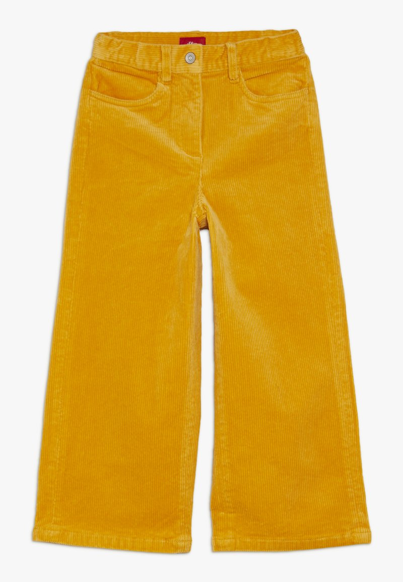 s.Oliver - CULOTTE - Stoffhose - dark yellow