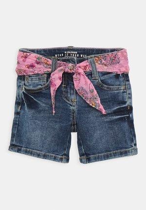 KURZ - Jeans Shorts - blue denim