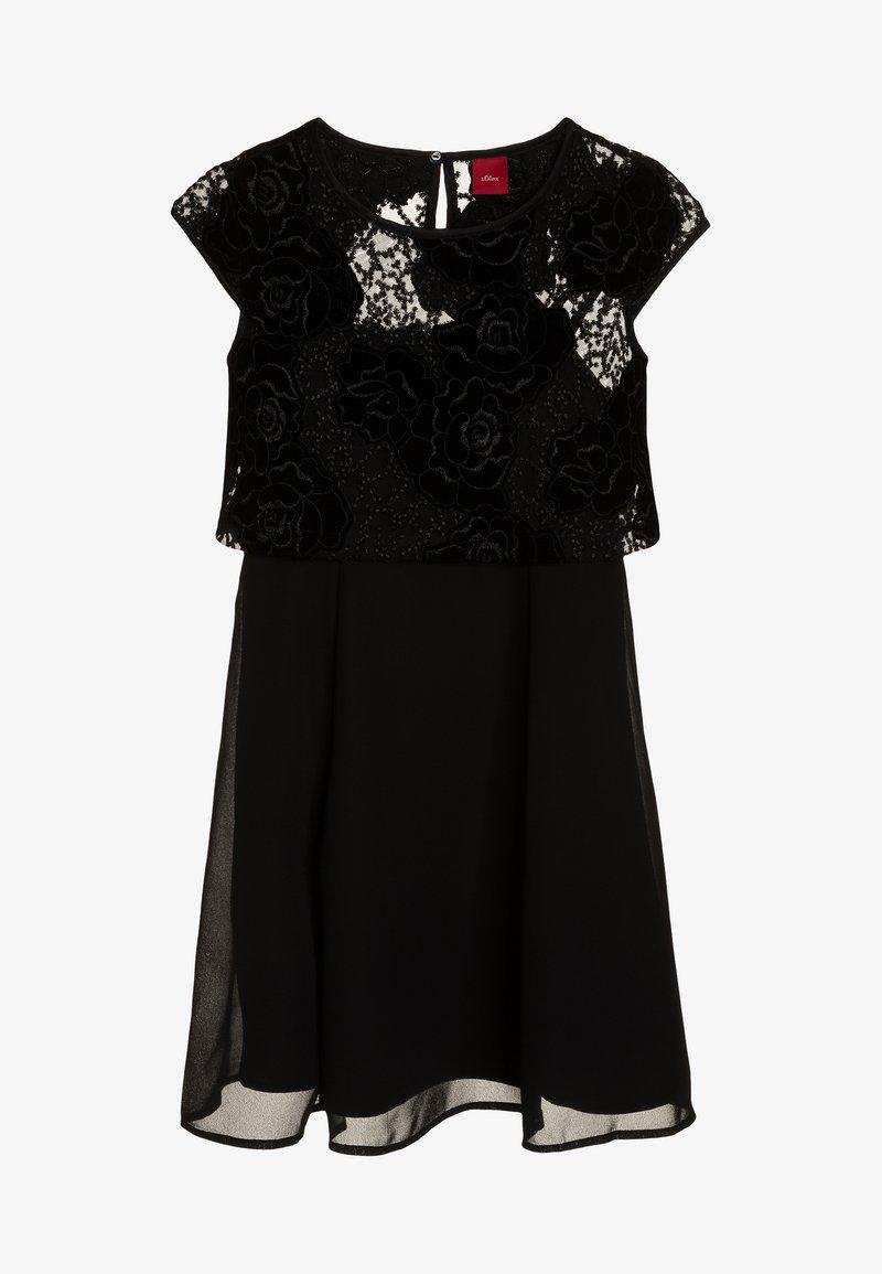 s.Oliver - KURZ 2-IN-1 - Cocktailkleid/festliches Kleid - black